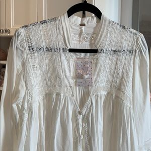 Free People blouse with lace
